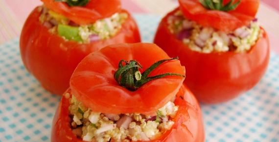 Food Quinoa Stuffed Beef Tomatoes - No Bake
