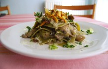 Open Mushroom Lasagna with a Cauliflower Sauce