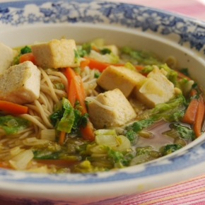 Tofu, Lettuce and Noodle Soup (Wagamama): Friday Challenge!