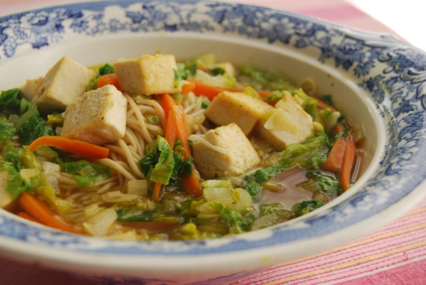 Tofu, Lettuce and Noodle Soup (Wagamama)