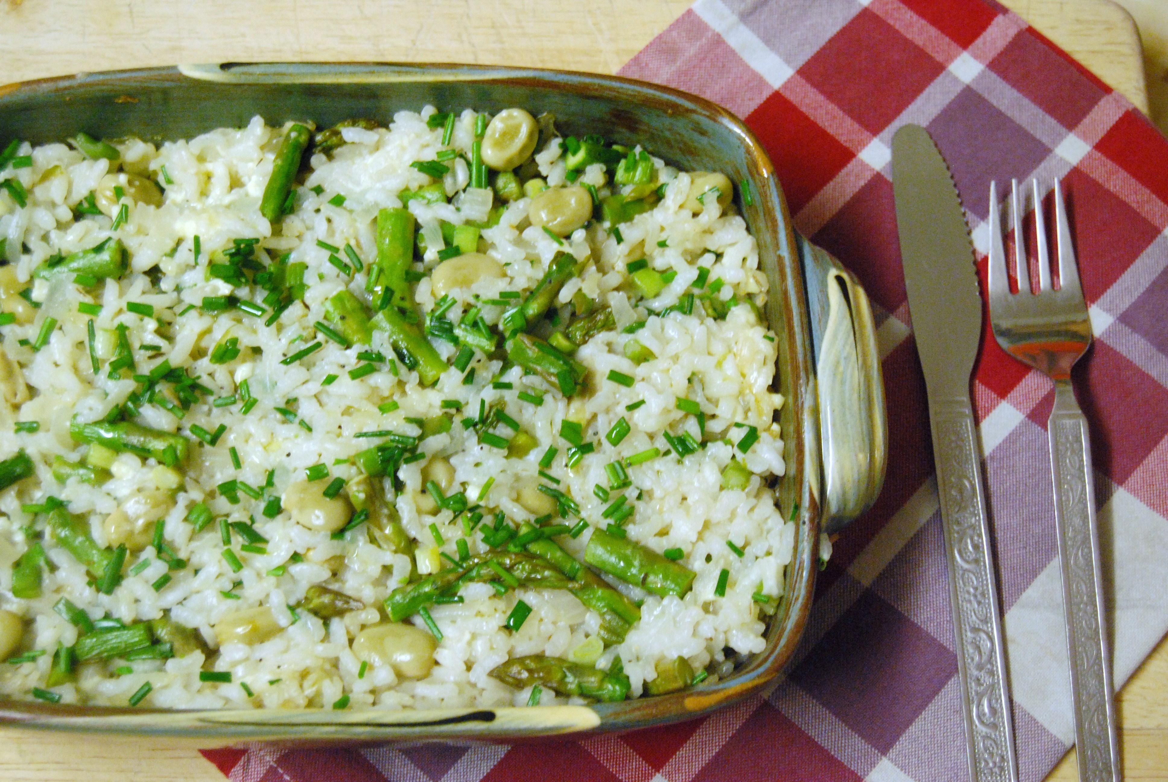 Risotto Verde (Delia Smith's Vegetarian Cookbook): Friday Challenge!