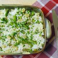 Risotto Verde (Delia Smith's Vegetarian Cookbook): Friday Challenge!