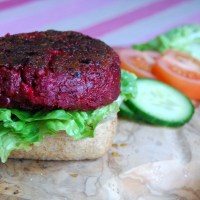 Beetroot & Feta Burger: Meat Free Monday