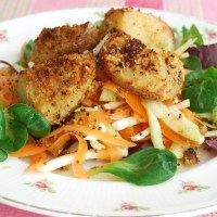Roast Potato and Coleslaw Salad: Meat Free Monday