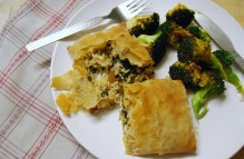 Rice, Feta and Sundried Tomato Parcels
