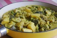 Aubergine and Potato Curry