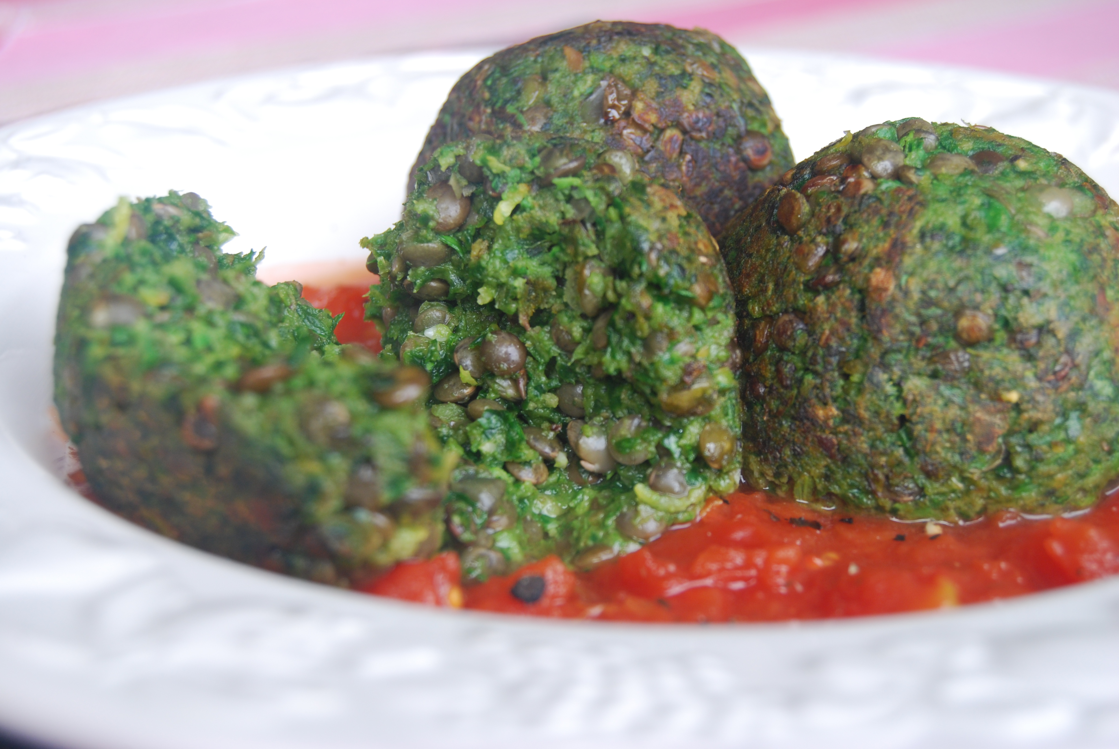 """Lentil and Spinach """"Meatballs"""": Meat Free Monday 