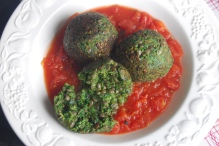 Lentil and Spinach meatballs