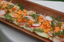 Kohlrabi, Carrot and Radish Ceviche