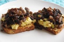 Mushrooms and Eggs on toast