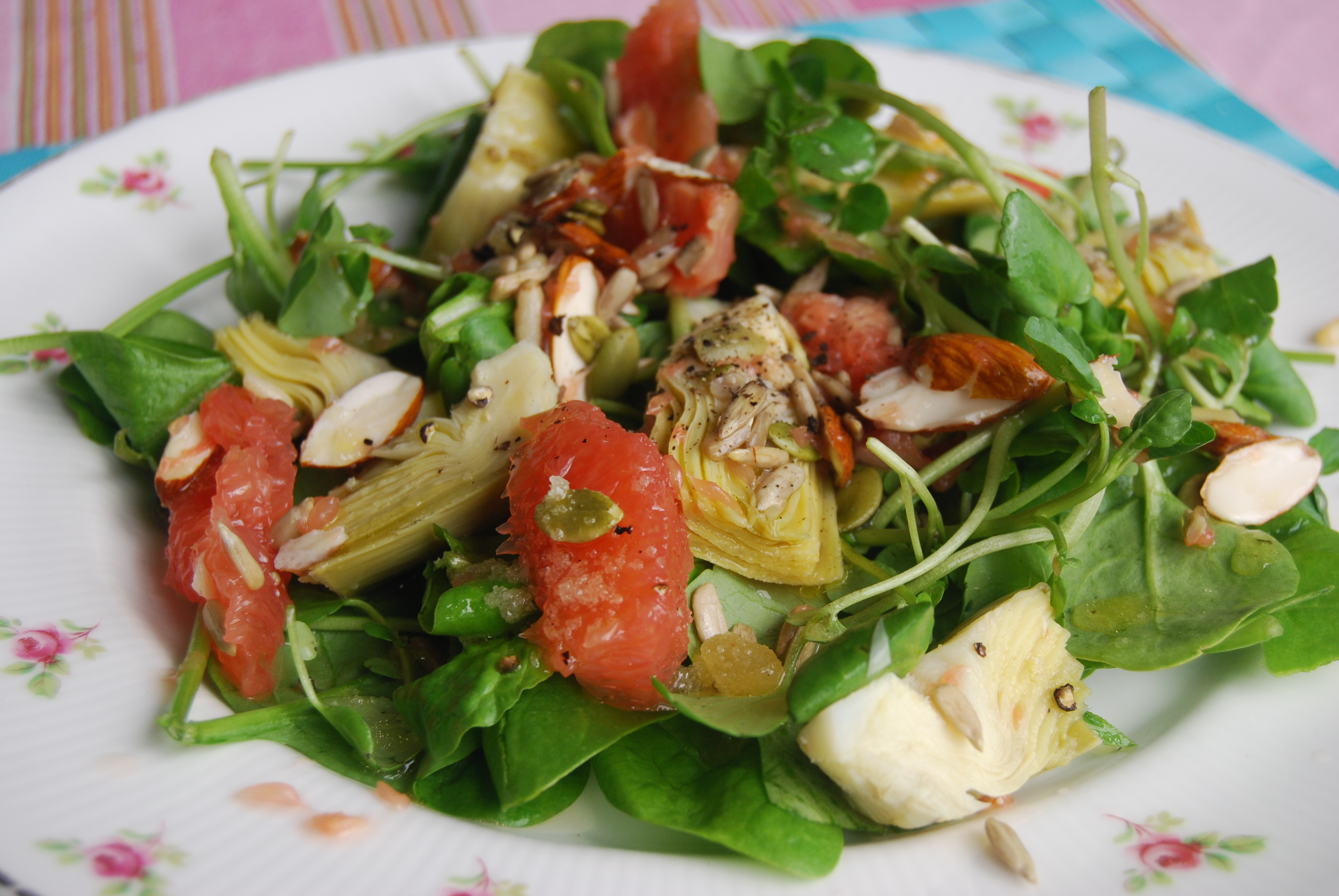 Globe artichoke and pink grapefruit salad jamie oliver recipe there forumfinder Gallery