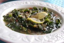 Kale, Lentil and Ginger Soup