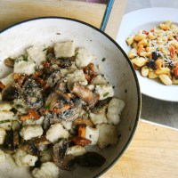 Gnocchi with Mushrooms Truffle oil and sage (Gino D' Acampo recipe): Friday Challenge!