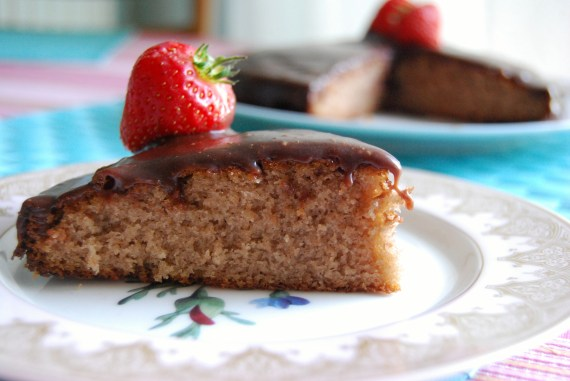 A slice of Chocolate Cake using Mary Berry's recipe