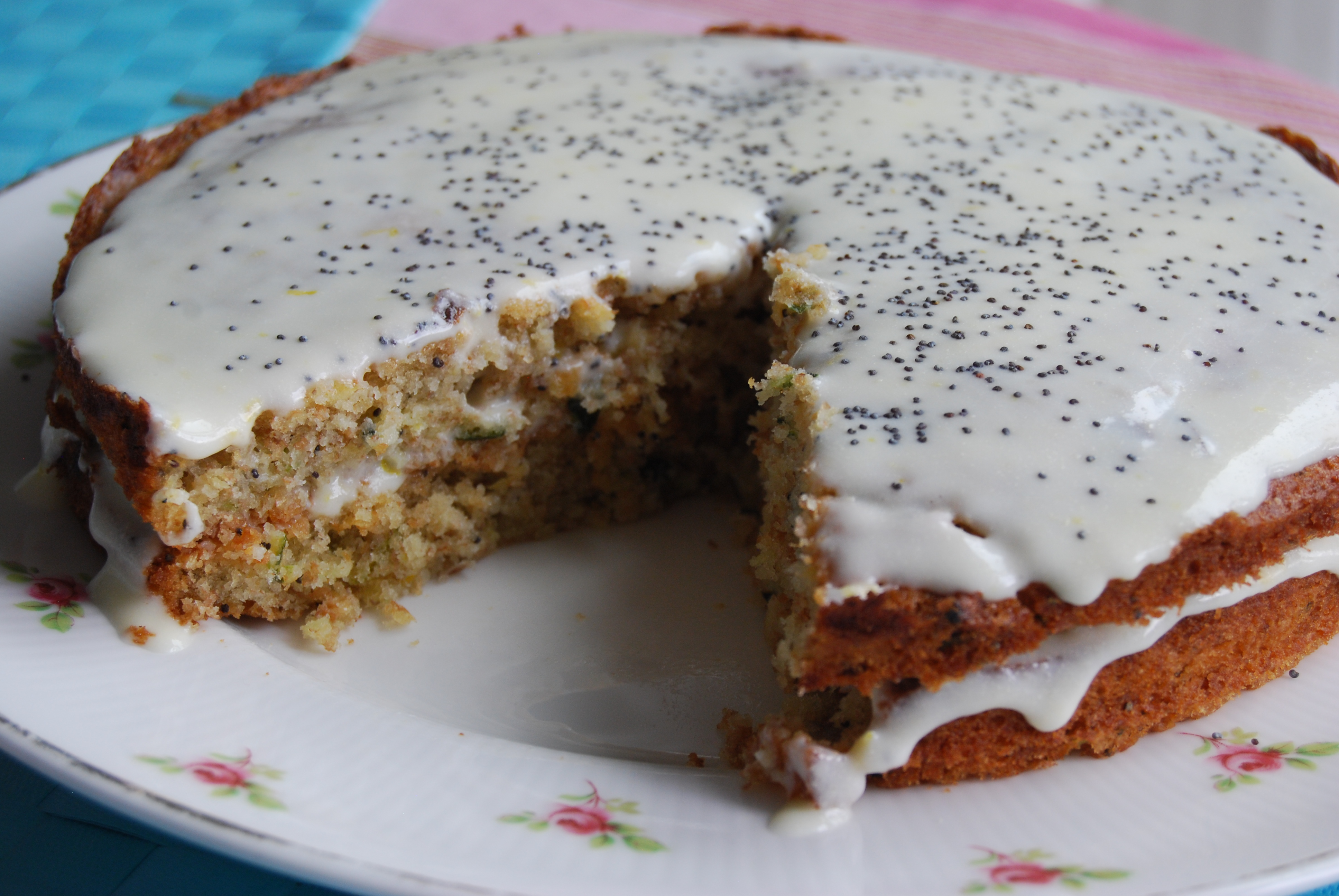 Lemon Frosted Courgette Cake Recipe