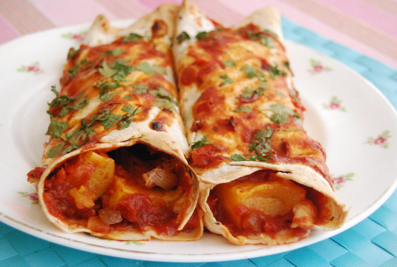 Butternut Squash Enchiladas: Meat Free Monday | veghotpot