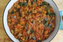 Aubergine and Tomato Curry
