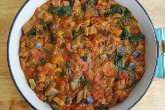 Aubergine and Tomato Curry (Vegan, GF)