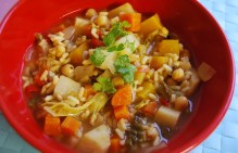 Moroccan Styled Soup with Ras El Hanout