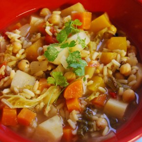 Ras El Hanout, Chickpea and Rice soup: 805 FoodsReview