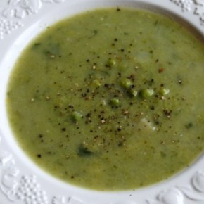 Pea, Leek and Fennel Soup: Meat Free Monday