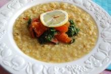 Lentil, garlicl, lemon and Ginger Soup