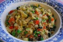 Healthy Egg Fried Quinoa