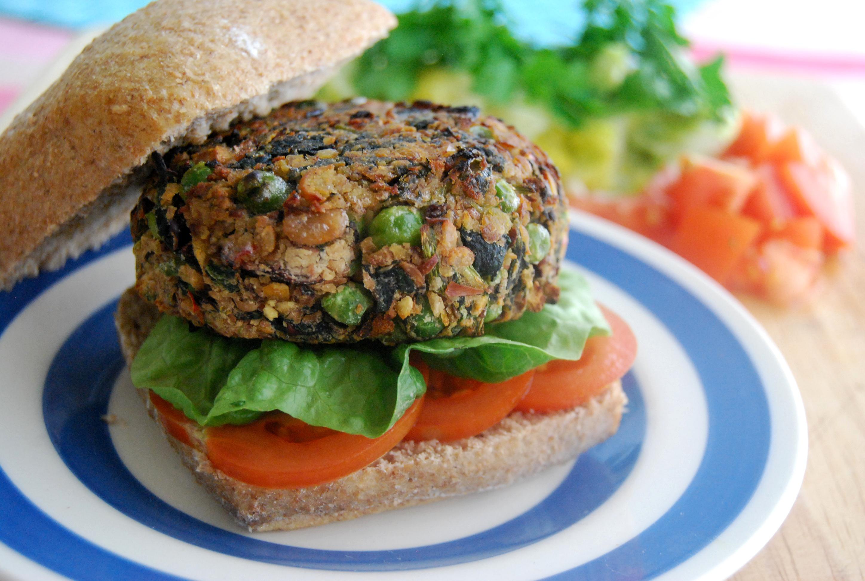 """Mixed Bean and Pea """"... Garden Burger"""