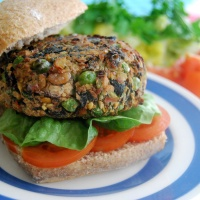 "Mixed Bean and Pea ""Garden Burger"" - Vegan and Gluten Free!"