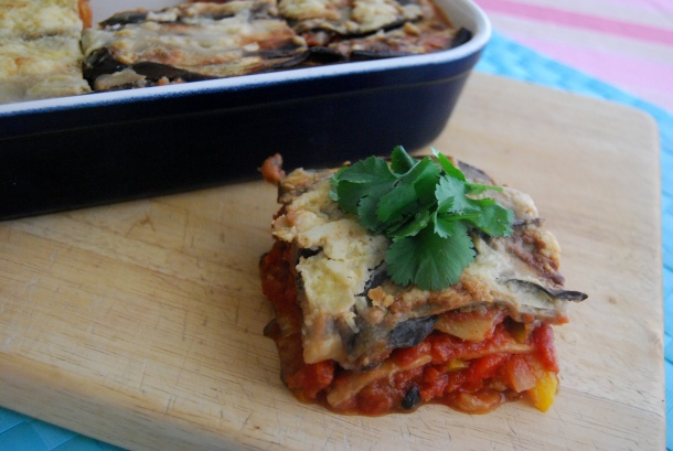 Aubergine and Ratatouille Layered bake (Vegan, GF)