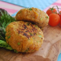 Red Lentil and Butternut Squash Burgers - Vegan and Gluten free