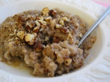 Cinnamon, Hazelnut and Maple Syrup Rice Pudding