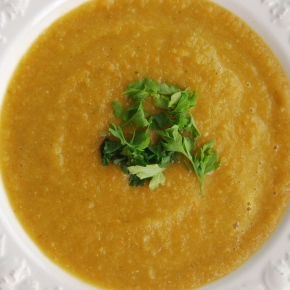 Carrot, Red lentil and Ginger Soup