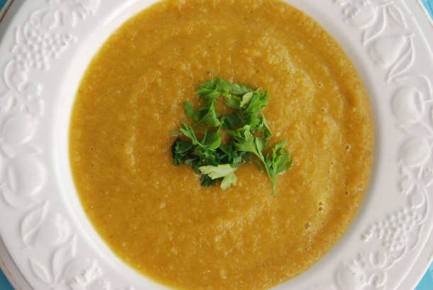 Carrot, Red Lentil and Ginger Soup (GF)