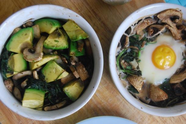 Baked Avocado (Vega version of Baked Eggs)