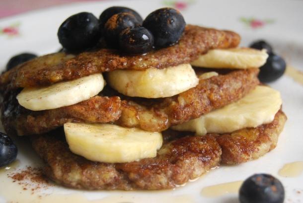 Flax and Banana Pancakes