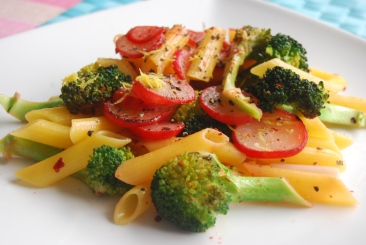 Broccoli, Radish and Lemon Pasta Salad