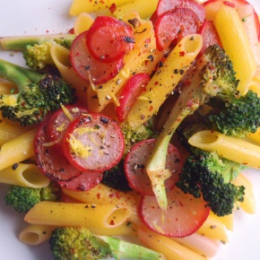 Broccoli, Radish and Lemon Pasta