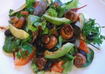 Warm Mushroom and Balsamic Salad