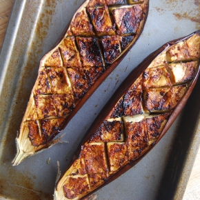 Very Simple and Versatile Roasted Harissa Aubergine