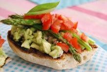 Avocado Mash and Asparagus Bruschetta