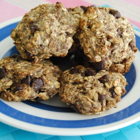 Vegan and Gluten Free Banana and Oat Cookies: Peanut Butter or Choc Chip (4Ingredients!)