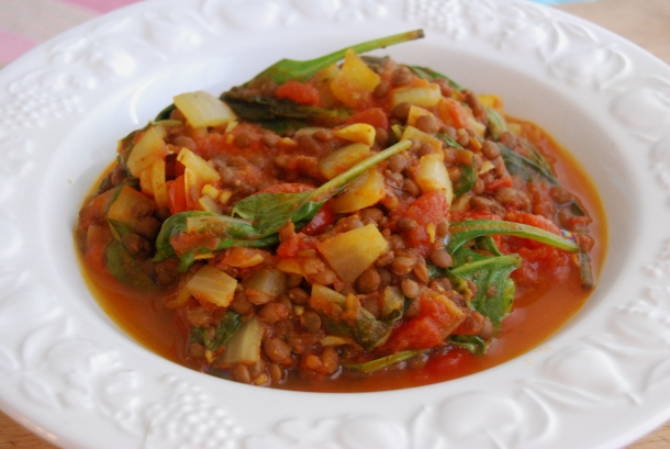 Curried Puy Lentils