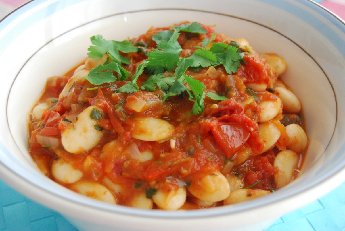 Roasted Tomato and Butter Bean Stew - Perfect Tapas Dish