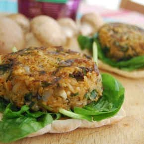 Mushroom and Rice Veggie Burger and a Tilda RiceReview