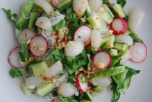 Rice Noodle and Lychee Salad