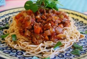 Veggie Spaghetti Bolognese and Veghotpots 2nd birthday!