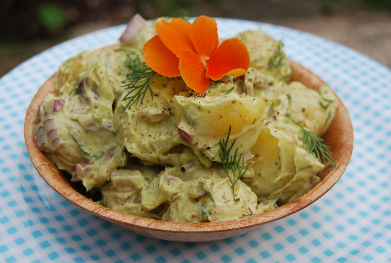 ... potato salad recipe yummly creamy fingerling potato salad vegan recipe