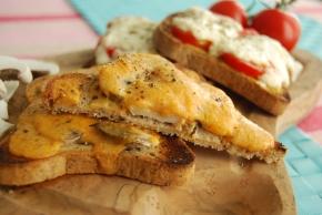 Vegan Welsh Rarebit Two Ways – Mushroom andTomato