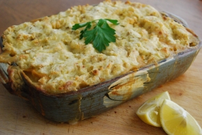 Vegan 'Fish' Pie with Tofu and Oyster Mushroom  – Vegan MoFo